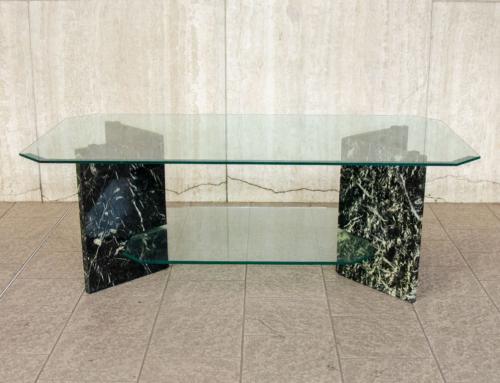 Tavolino basso marmo cristallo